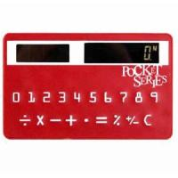Wholesale promotion gift Mini Slim Credit Card Solar Power Pocket Calculator from china suppliers