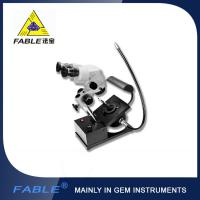 Wholesale Generation 1st  Swing arm type Gem Microscope With F15 binocular lens with side light fiber lighting from china suppliers