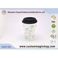 Wholesale Silicone Cover 12oz Starbucks Ceramic Travel Mug , Multi Photo Color Changing Mug from china suppliers