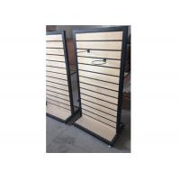 Wholesale Metal Frame Slatwall Display Stand Two Sides 1200 * 450 * 1380MM Multi - Funcutional from china suppliers