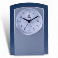 Wholesale Plastic Desk Alarm Clock with Transparent Frame and BB Alarm Voice, Ideal for Promotional Purposes from china suppliers