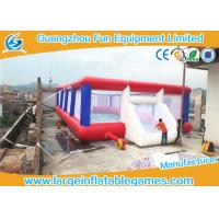 Wholesale 0.55mm Tarpaulin Inflatable Football Pitch Bubble Pitch With Netting from china suppliers