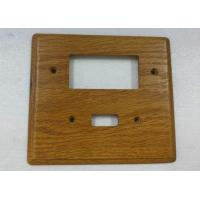 Wholesale Custom Wood Switch Plates And Outlet Covers Simple Finished 140 X 126 mm from china suppliers