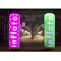 Wholesale Colored Inflatable Pillar 2m Printing Inflatable Column With RC LED Inside from china suppliers