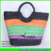 Wholesale LUDA colorful lady summer cornhusk straw beach bags and totes from china suppliers