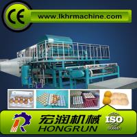 Wholesale 4000pcs/h 8 sides rotary type automatic egg tray machine with 6 layer drying line from china suppliers