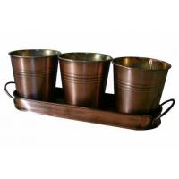 Wholesale Set of 3 Flowerpot, Candle Bucket (SUN-031) from china suppliers