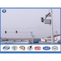 Buy cheap 6m Crossroad traffic light post Joint with insert mode , outdoor light pole longspan life from wholesalers