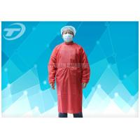 Wholesale Red / Green Nonwoven Disposable Surgical Gowns Elastic Cuff 16-80gsm from china suppliers