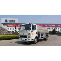 Quality Small HOWO120hp  Fuel Tanker Truck With 8m³Cube Loading SINOTRUK for sale