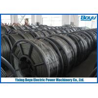 Wholesale 15mm Line Stringing Flexible Pilot Steel Wire Rope , Braided Steel Wire Rope from china suppliers