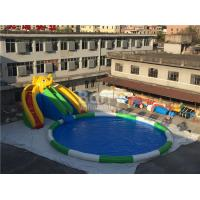 Buy cheap 0.55mm PVC Tarpaulin Inflatable Water Slide Park For Kids / Inflatable Water Games from wholesalers