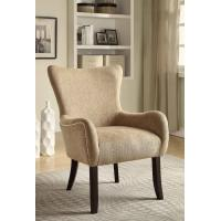 Wholesale Cream Upholstered Dining Chairs , Padded Kitchen Chairs  With Sturdy Birch Legs from china suppliers