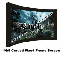 Wholesale Movie Cinema 16:9 Front Projection Screen 92inch Arc Fixed Frame Projector Screens from china suppliers