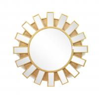 Wholesale FR-15401 sunburst wall mirror with metal with gold leaf frame for home from china suppliers