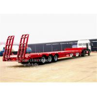 Quality Custom 3 Axle 50T lowbed semi trailer for D8 bulldozer transport for sale