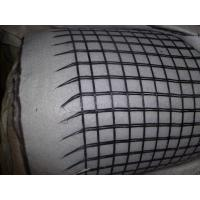 Wholesale High Tensile Anti - Tearing Fiberglass Geogrid Composite Geotextile , Width 1 - 5.8m from china suppliers
