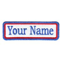 Wholesale Rectangular 1 Line Custom Embroidered Name Tag from china suppliers
