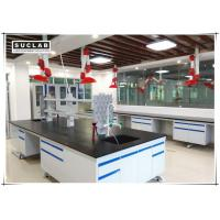 Wholesale C Frame Steel Stucture Lab Island Bench With Ceramic Countertop and Reagent Shelves from china suppliers