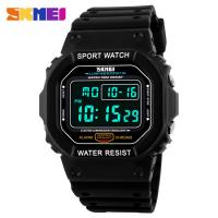 Comfortable Designer Digital Watches For Kids 3/5 ATM Green