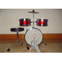Wholesale 3 Piece Junior Red Acoustic Kids Drum Set Middle Size With Cymbal / Throne MU-3KM from china suppliers