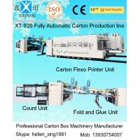 Buy cheap Carton Manufacturing Machine Flexo Printer Slotter Die Cutter With Folder Gluer from wholesalers