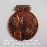Wholesale 3D embossed medals and medallions, personalized metal medal with ribbon lace from china suppliers