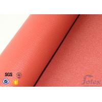 Wholesale 1010g Red Silicone Coated Fiberglass Fabric 1mm Electrical Insulation Durable from china suppliers