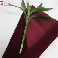 Wholesale Soft Cotton Velvet Upholstery Fabric Flocked Anti-Static for Decoration from china suppliers