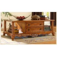 Wholesale Wooden living room furniture, wooden carved rectangular coffee table from china suppliers