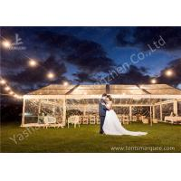 Wholesale Out side Grassland Clear Top Luxury Wedding Tents High Pressed Aluminum String Lights from china suppliers