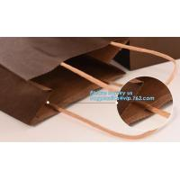 Wholesale Full Black Matt Finish Paper Shopping Carrier Bag with Dite Cut Handle,Luxurious design brown foldable flat handle kraft from china suppliers