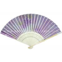 Wholesale Pastel Style Printed Japanese Traditional Fan , paper folding hand fans from china suppliers
