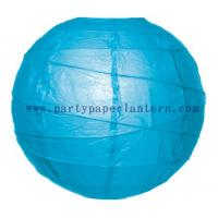 Wholesale 8 Inch Turquoise blue Wedding Decorations Paper Lanterns Round Shape from china suppliers