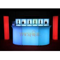 Wholesale Blue Bar Counter Led Glow Furniture And Sofa For Club , CE ROHS FCC Certificates from china suppliers
