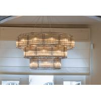 Wholesale OEM 3 Layer Round Brass And Crystal Chandelier Polished Copper Nice from china suppliers