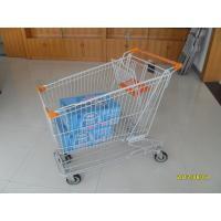 Wholesale Asian Style 180L Supermaket Wire Shopping Cart Trolley With Normal plastic from china suppliers