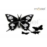 Wholesale DIY Black Butterfly Creative Wall Clocks Kids Room Decoration Wall Clocks from china suppliers