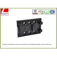 Wholesale AL6063 custom aluminium parts bracket black Anodization , tolerance + / - 0.01mm from china suppliers