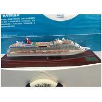 Wholesale Scale 1:900 Outdoor Decoration Carnival Dream Cruise Ship Model With Alloy Diecast  Anchor Material from china suppliers