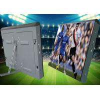 Wholesale iron soft mask Cabinet  advertising Outdoor waterproof P10 football stadium perimeter led screen from china suppliers