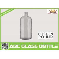 Wholesale 8oz Boston Round Glass Bottle With Screw Cap Clear Color from china suppliers