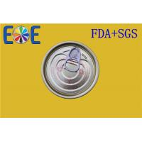 Wholesale Steel Easy Open Canned Food Lids 69.7mm Tinplate With Customized Coating from china suppliers