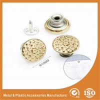 Wholesale Gold Custom Metal Buttons For Jeans decorative buttons for clothing from china suppliers