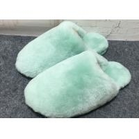 Wholesale 100% Handmade Durable Sheep Wool Slippers Soft Dyed Colors For Toddler / Adults from china suppliers