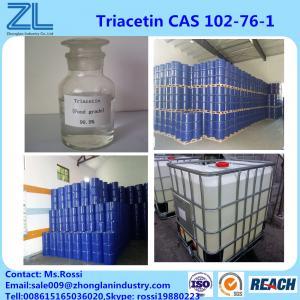 Quality 64.0 G/L Fine Chemical 99.5%min Triacetin(Glycerol triacetate) CAS 102-76-1 for sale
