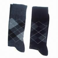 Buy cheap Men's socks, made of cotton and spandex from wholesalers