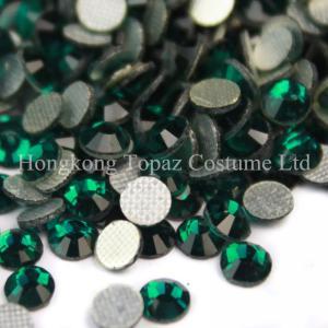 Wholesale SS20 emerald DMC hot fix rhinestones MC Iron-on rhinestone machine cut stones from china suppliers