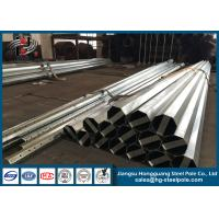 Buy cheap NEA Standard Conical Hot Dip Galvanized Steel Power Transmission Poles 10 KV to 220 KV from wholesalers