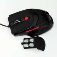 Wholesale Black HUANYU Switch USB Wired Gaming Mouse , high dpi mouse 600 1000 1600 from china suppliers